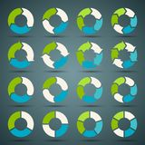 Circle arrows set for your info graphic. Circle arrows signs and symbols vector set Stock Photo