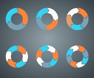 Circle arrows template for your business project. Layout for your options. Can be used for info graphic Stock Photography