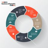 Circle arrows for your info graphic Royalty Free Stock Images