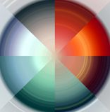 Circle as diamond, colorful abstract background Stock Photo