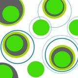 Circle background. Beautiful green circle retro background on white Royalty Free Stock Photography