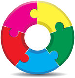 Circle background. A round colourful jigsaw background Royalty Free Stock Photography