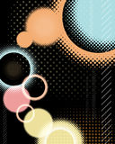 Circle Background. An illustration of a rastered circular abstract background Stock Image