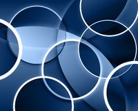 Circle Background. Abstract Circle Background with overlapping shapes Stock Illustration