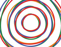 Circle background. Circles on a white background Royalty Free Illustration