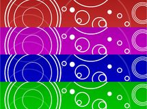 Circle background Banners Royalty Free Stock Image