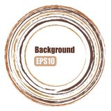 Circle background, brushes, bronze paint, EPS vector illustration Royalty Free Stock Photography