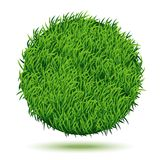 Circle Background Of Green Grass. Vector Illustration royalty free illustration