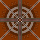 Circle background 5. A illustration based on aboriginal style of dot painting depicting circle background 5 Stock Images