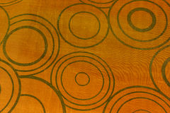 Circle background. Pattern of brown cushions that overlapping circles Stock Images