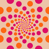 Circle Background Peach. Peach background with colourful circles royalty free illustration