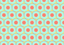 Retro cirlce seamless pattern Royalty Free Stock Photo