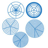 Circle Background Wallpaper design abstract illustration table square Royalty Free Stock Photos