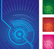 Circle backgrounds Stock Photography
