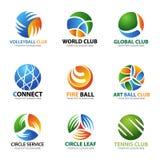 Circle ball logo for sport and business vector set art design Stock Photos
