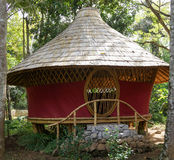 Circle bamboo hut in bali Stock Photos