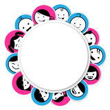 Circle banner with kids icon. Cartoon cute,eps10 Royalty Free Stock Photo