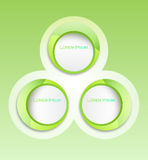 Circle Banner Sticker Stock Photo