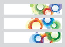Circle banners Royalty Free Stock Photos