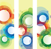 Circle banners Stock Image