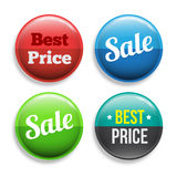 Circle banners set. Stock Images