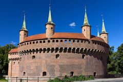 Circle Barbican in krakow in Poland Stock Photos