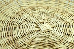 Circle basket weave pattern closeup stock photography