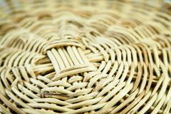 Circle basket weave pattern closeup stock images