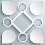 4 Circle Big Rhombus Startup Infographic PiAd Royalty Free Stock Photography