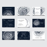 Circle bisiness card Royalty Free Stock Images
