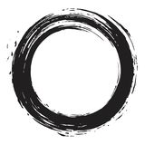 Circle Black Enso Zen Vector Brush. Illustration Ink Royalty Free Stock Images