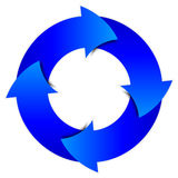 Circle from blue arrows. Vector illustration - blue arrows circle Stock Photos
