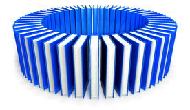 Circle of blue books Royalty Free Stock Photos