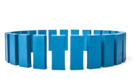 Circle of blue building blocks Stock Photo