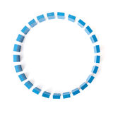 Circle of blue building blocks Royalty Free Stock Photography