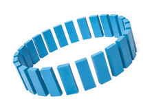Circle of blue building blocks Stock Images