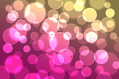 Circle bokeh Royalty Free Stock Photography
