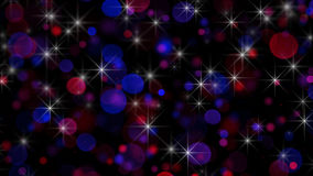 Circle bokeh lights and stars abstract holiday background Royalty Free Stock Photography