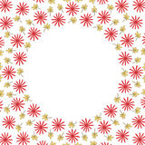 Circle border frame with flowers and leaves Royalty Free Stock Images