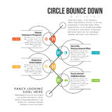 Circle Bounce Down Stock Image