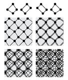 Circle box line symmetry set black seamless pattern Stock Photo