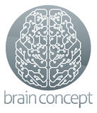 Circle brain computer circuit Stock Images