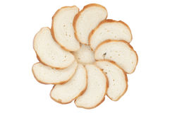 Circle from bread slices Royalty Free Stock Photos