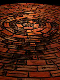 Circle brick floor. Old style nice and tidy circle brick floor Stock Images