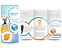 Circle Brochure. Professional business catalog template or corporate brochure design with inner pages Stock Illustration