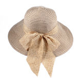 Circle brown hat isolated on white Royalty Free Stock Image