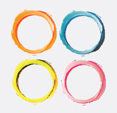 Circle brush paint. Vector Illustration Stock Images