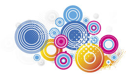 Circle bubble pattern Royalty Free Stock Photos