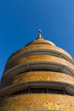 Circle building with the pagoda on top Royalty Free Stock Images