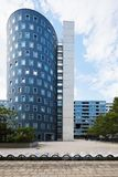 Circle building in Wien. Circle building in modern area in Wien Royalty Free Stock Photography